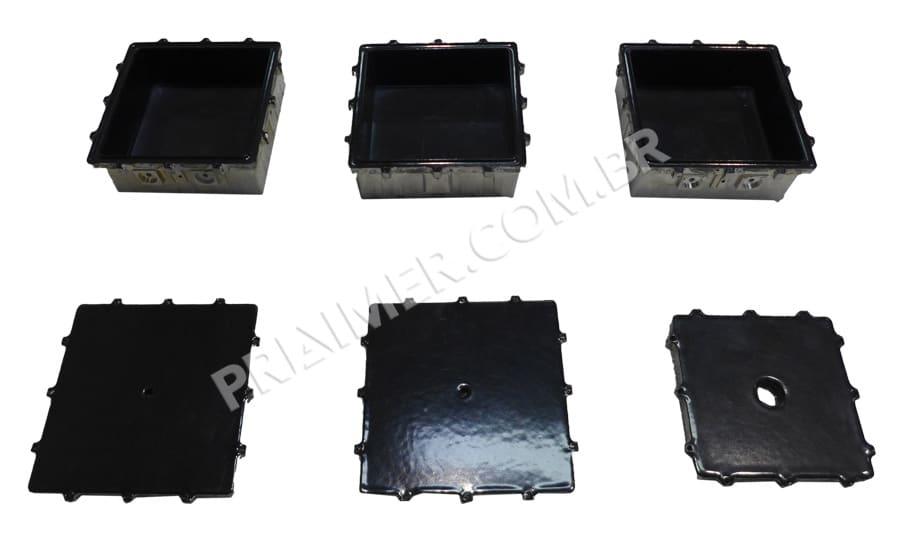 cataforesis plastificado negro para caja de conexiones en sector químico