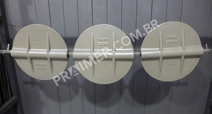 uso de polímero para válvula em canalização
