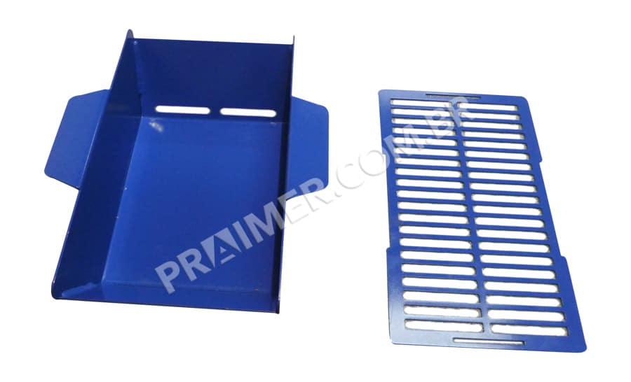 tefloning ink collection tray with blue teflon