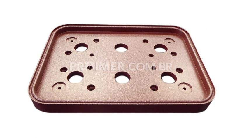 thermoforming of packaging sealing plate with ruby red teflon