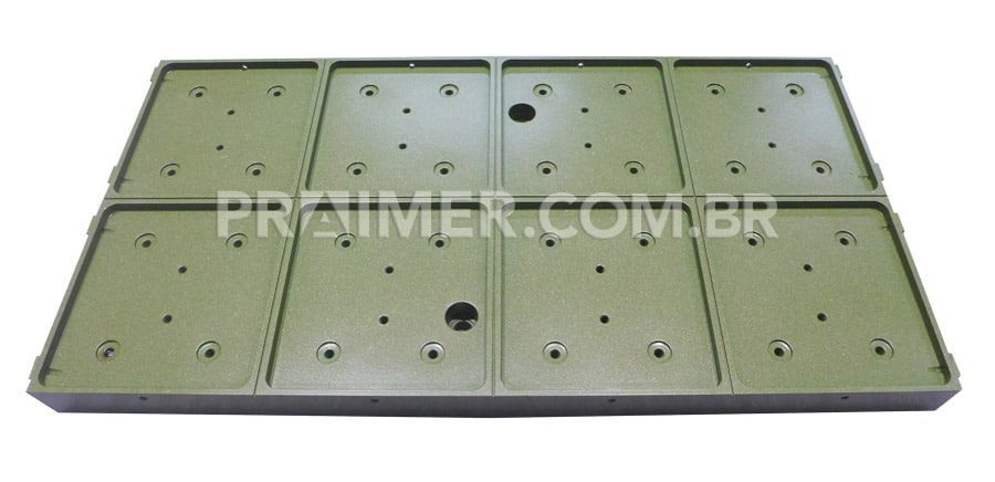 thermoforming of thermal welder with green teflon coating